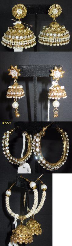 Earrings 98510: Earrings 7231 Golden Assorted Indian Traditional Earrings -> BUY IT NOW ONLY: $35 on eBay!