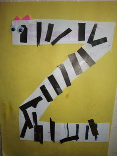 Do all the letters of alphabet changing the letter into (zebra z)