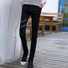 Buy 'JVR – Zip-Accent Skinny Jeans' with Free International Shipping at YesStyle.com. Browse and shop for thousands of Asian fashion items from China and more!
