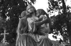 Cimitero monumentale del Verano, Roma. Cemetery, sculpture, statues, monuments, Italy
