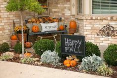 Cute fall setup.