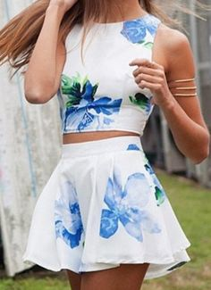 Pretty floral two piece!