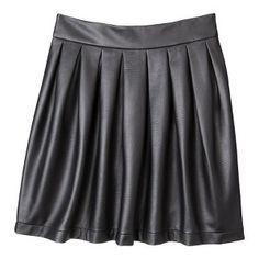 Xhilaration® Juniors Faux Leather Skirt - Black