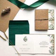 Piękne, rustykalne, ręcznie robione zaproszenia ślubne. Invitation Design, Invitation Cards, Wedding Invitations, Wedding Bells, Wedding Cards, Wedding Day, Restaurant Branding, Stationery Paper, Paper Design