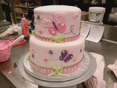 Butterfly birthday cake possible 1st birthday