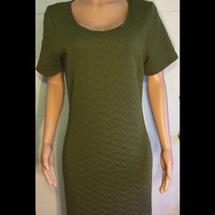 New Hot ginger women's plus size dress Gorgeous hunter green textured plus size dress. Very figure flattering. Bust (armpit to armpit) is 20 inches. Length is 33 inches Hot ginger Dresses Midi