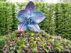 Bronze Orchid Sculpture - Chelsea Flower Show 2013.