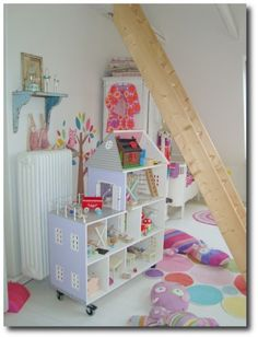 Painted Kids Doll House