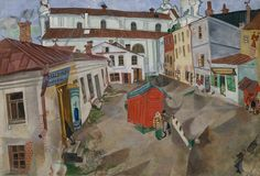 Marketplace in Vitebsk, Marc Chagall, 1917