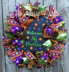 Halloween Wreath Witch Hat Wreath Witch Wreath by MsSassyCrafts