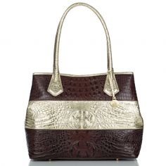 Tri-Color Luxe Anytime Vineyard Tote......LOVE!  #mybrahminstyle