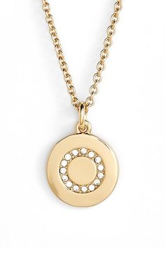 kate spade new york pave letter pendant necklace