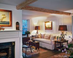 "Architect Dean Telfer designed the paneling in the ""snug."" The nautical painting comes via London."