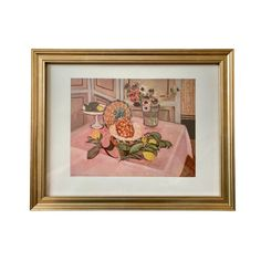 Vintage Framed Matisse Art Print Still Life With Pineapple | Etsy Vintage Picture Frames, Vintage Frames, Vintage Prints, Matisse Art, Henri Matisse, Post Impressionism Art, Art Periods, Gold Wood, Still Life