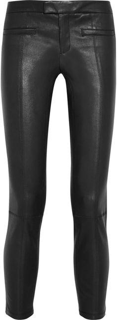 Helmut Lang Leather skinny pants • Outnet