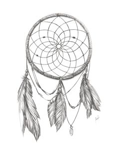 Dream Catcher BnW by packness.deviantart.com on @deviantART