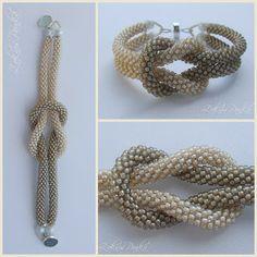 ZoknisPanka beads: Sandstorm loop crochet bracelet