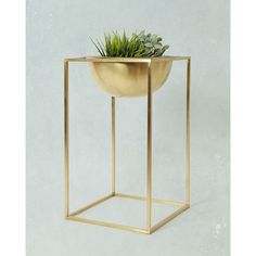 We add elements like this brass plant holder, to bring your home look to perfection. #IncaLifestyle #Brass #Plants