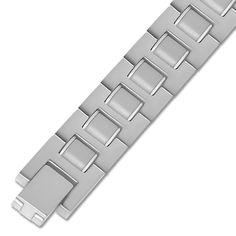 Ebay NissoniJewelry presents - Stainless Steel w/ Gray Rubber Gents Bracelet    Model Number:BRV1805-ST    http://www.ebay.com/itm/Stainless-Steel-w-Gray-Rubber-Gents-Bracelet-/322049485628