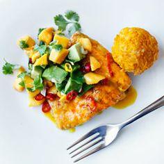 yummy Salmon with Orange Sauce - Recipe Orange Sauce Recipe, Crab And Lobster, Tilapia, Salsa, Risotto, Seafood, Grilling, Mango, Fish