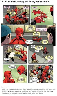You know you'd make a terrible hero when you think Deadpool was totally awesome and clever for shooting that innocent bystander in the leg.
