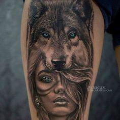 Je le veux tattoos tattoos, headdress tattoo и wolf tattoos Wolf Tattoo Design, Wolf Eye Tattoo, Wolf Girl Tattoos, Wolf Tattoos For Women, Tribal Wolf Tattoo, Wolf Tattoo Sleeve, Sleeve Tattoos, Design Tattoos, Animal Tattoos