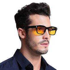 "Universe of goods - Buy ""Blue Ray Computer Glasses Men Screen Radiation Eyewear Brand Design Office Gaming Blue Light Goggle UV Blocking Eye Spectacles"" for only USD. Blue Ray, Ghana, Georgia, Light Games, Computer Glasses, Men Eyeglasses, Long Faces, Natural Sleep, Eye Strain"