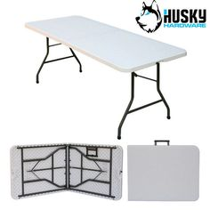 Husky folding #plastic table banquet #trestle bbq diy camping picnic #garden mark,  View more on the LINK: http://www.zeppy.io/product/gb/2/201276036496/