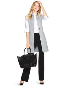 Long Vest - Shop Dress Jackets & Blazers For Women - White & Black Jackets, Tweed, Blazers, Vests & Trenches - White House Black Market Vest Outfits For Women, Blazers For Women, Casual Outfits, Jackets For Women, Fashion Outfits, Clothes For Women, Shop Jackets, Black Jackets, Black Blazers