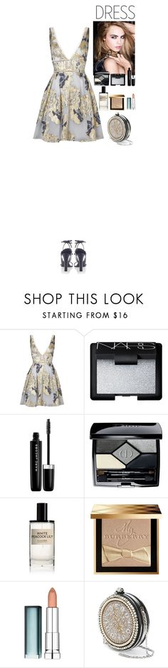 """""""Perfect Party Dress♥"""" by eliza-redkina ❤ liked on Polyvore featuring Notte by Marchesa, Yves Saint Laurent, NARS Cosmetics, Marc Jacobs, Christian Dior, D.S. & DURGA, Burberry, Maybelline, Alexander McQueen and Marni"""