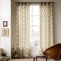 West Elm Ikat window panel....64 per panel...thinking about DIYing..should I make a stamp or a stencil??...