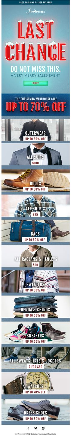 JackThreads holiday email 2014