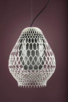 Rhizaria + Biophilia 3D Printed lamps by Lanzavecchia + Wai for .exnovo