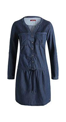 Esprit / Robe en jean d´aspect usé