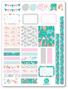 Cute Zoo Decorating Kit / Weekly Spread Planner by KGPlanner