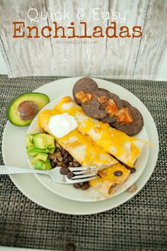 Delicious Beef Enchiladas make the perfect weeknight dinner. Making them is a breeze and takes only 20 minutes with this Easy Enchilada Recipe. Mexican Cooking, Mexican Food Recipes, Dinner Recipes, Mexican Meals, Dinner Entrees, Fun Recipes, Popular Recipes, Easy Family Dinners, Family Meals