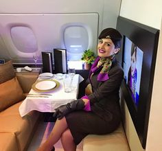 Our award winning Cabin crew offers a unique taste of Arabian hospitality onboard our aircraft.