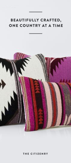 Say hello to your new favorite pillow! Handcrafted in Oaxaca, Mexico, these  bold, Zapotec tribal patterns bring a modern look to any space.