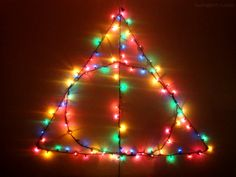 Deathly Hallows Christmas lights - Harry Potter