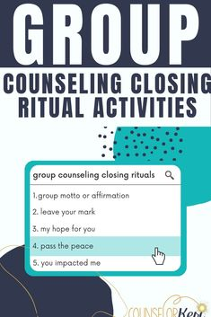 Looking for meaningful ways to end group counseling? Check out these 5 group counseling closing rituals to use with your students! Group counseling activities for the last session of group. Group counseling lesson plans for elementary school counseling and middle school counseling last session of group. -Counselor Keri Middle School Counseling, Elementary School Counselor, School Social Work, Group Counseling, Counseling Activities, Elementary Schools, Social Emotional Learning, Social Skills, Guidance Lessons
