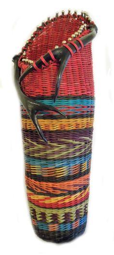 """Indian """"style"""" Blanket Antler Basket"""