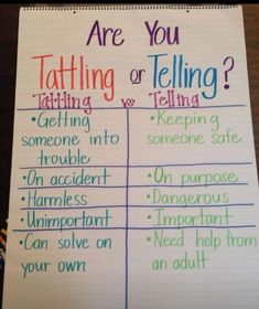 The difference between tattling and telling. Perfect for siblings #siblingrivalry #parenting 101