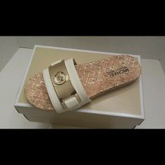Girls Size 13 Marshalia Sandals Brand new, in box, Michael Kors sandals for young girls in a size 13.  Cork-styled soles. Michael Kors Shoes Sandals