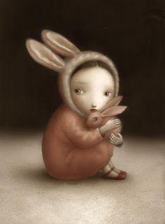 Illustration: Nicoletta Ceccoli, entre beauté et cauchemar Mark Ryden, Illustration Mignonne, Cute Illustration, Lapin Art, Art Fantaisiste, Photo D Art, Bunny Art, Wow Art, Whimsical Art
