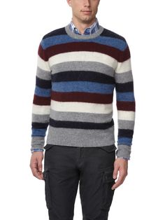 The colors in this sweater would be perfect on Guy.