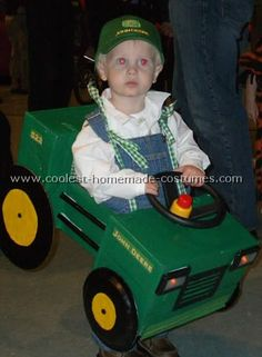 Tractor Costume/ decorate the wagon to look like a tractor and the boys can dress up as farmers!!! J is obsessed w/ John Deere lately (Thanks Jeremy)!!