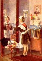 """Gallery.ru / Anneta2012 - Альбом """"Здравствуй, школа! Старые советские открытки."""""""