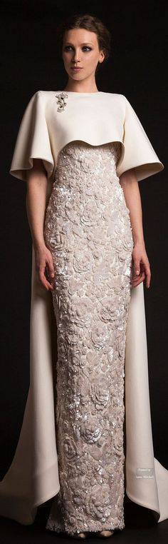 Luxury Krikor Jabotian Long Evening Dresses With Cape Beaded Appliques Elegant Evening Gowns Formal Red Carpet Dresses Evening Wear Cheap Evening Dresses 2011 D Couture Wedding Gowns, Wedding Dresses, Elegant Dresses, Formal Dresses, 2015 Dresses, Dresses With Capes, Fabulous Dresses, Club Dresses, Long Dresses