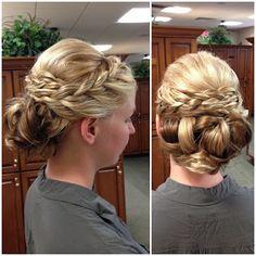 HairbyAdrianne, braid, updo, braided updo, wedding, bridesmaid, hair, bride