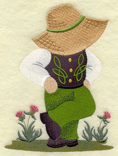 Irish Dancer  Fisherman Fred  Fabric  Towels  by StartingStitches